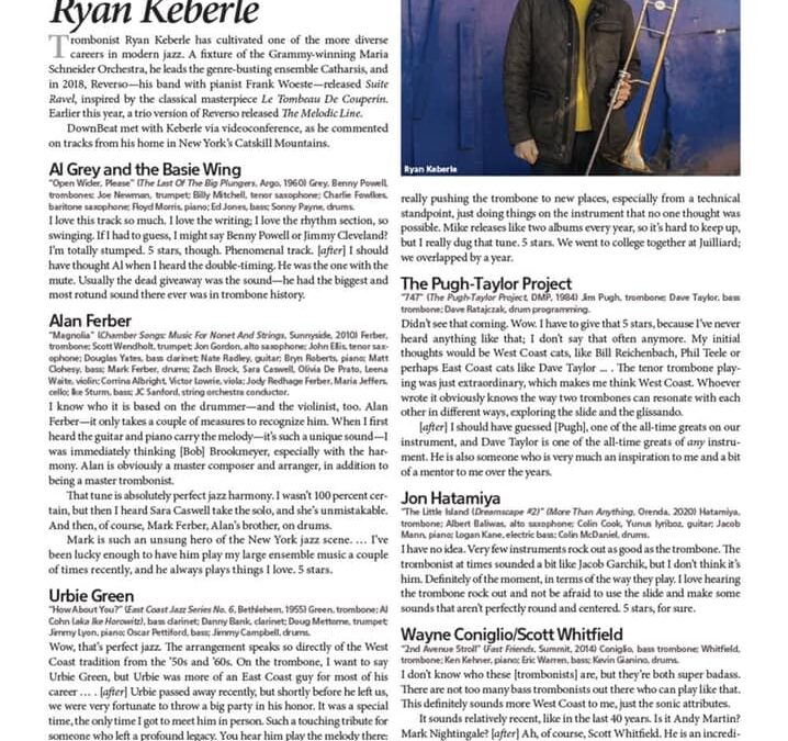Featured in the legendary Downbeat Blindfold Test!